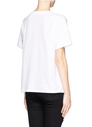 SANDRO - 'Theron' velvet flock T-shirt