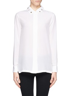SANDRO 'Cindy' riveted silk shirt