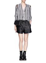 SANDRO'Clarisse' silk check lace trim blouse