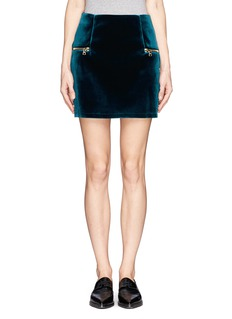SANDRO 'Janet' velvet mini skirt