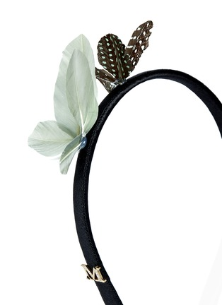 Detail View - Click To Enlarge - Maison Michel - Feather butterfly headband