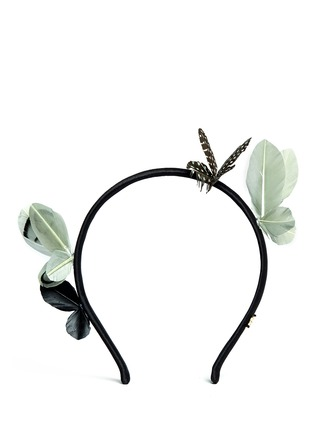 Main View - Click To Enlarge - Maison Michel - Feather butterfly headband