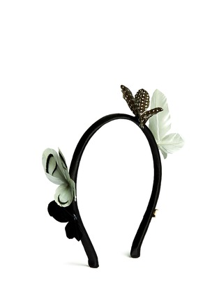 Figure View - Click To Enlarge - Maison Michel - Feather butterfly headband
