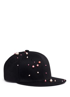 Piers Atkinson Faux pearl embellished baseball cap