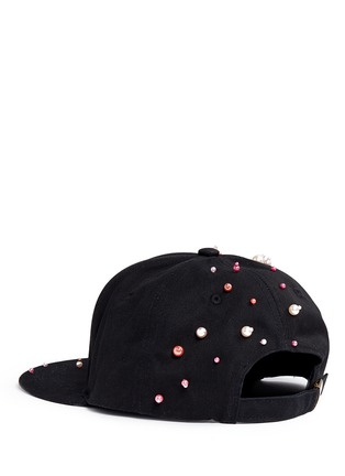 Figure View - Click To Enlarge - Piers Atkinson - Faux pearl embellished baseball cap