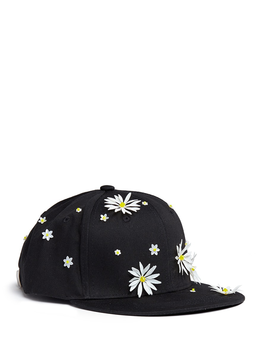Swarovski crystal embellished daisy baseball cap by Piers Atkinson