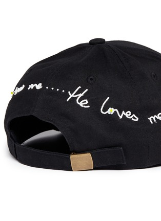 Detail View - Click To Enlarge - Piers Atkinson - 'He Loves Me' beaded slogan baseball cap