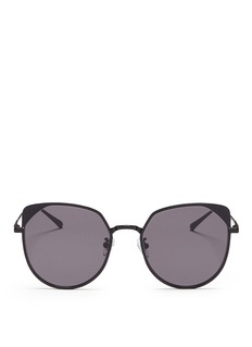 Stephane + Christian 'Jenny' flat mirror lens metal cat eye sunglasses