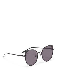 Stephane + Christian'Jenny' flat mirror lens metal cat eye sunglasses