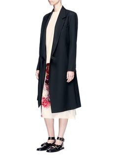 LanvinWatercolour floral print silk midi skirt