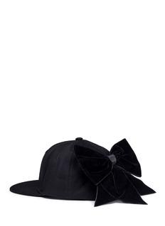 Piers AtkinsonVelvet bow baseball cap