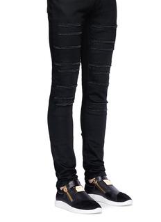 Giuseppe Zanotti Design'Runner' suede panel leather skate slip-ons
