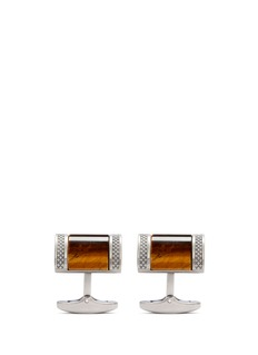 Tateossian Tiger eye titanium cufflinks