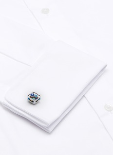 Tateossian Square rotating gear cufflinks