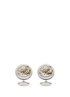 Tateossian Vintage skeleton gear sterling silver cufflinks