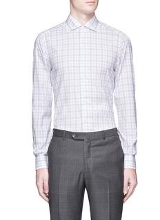 ISAIA'Milano' check plaid cotton shirt