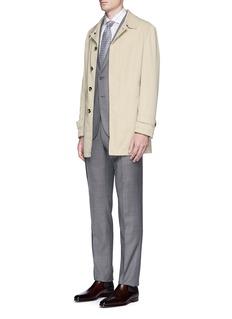 ISAIA'San Gennaro' cotton blend coat