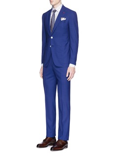 ISAIA'Gregory' check plaid wool suit