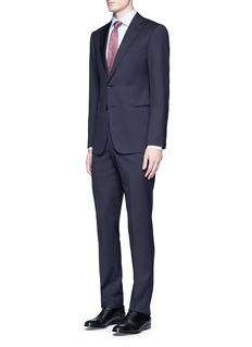 Armani Collezioni'T Line' zigzag jacquard virgin wool suit