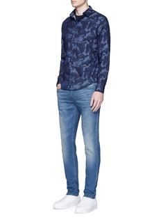 Armani CollezioniCamouflage print poplin shirt