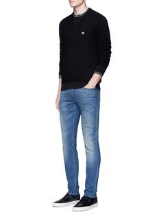 Armani CollezioniSlim fit medium wash jeans