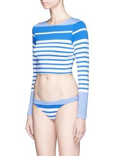 Vitamin A'Cannes' stripe cropped rashguard