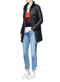 MONCLER BOGUE长款绗缝羽绒大衣