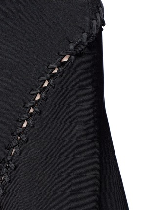 Detail View - Click To Enlarge - Alexander Wang  - Laced cutout knit dress