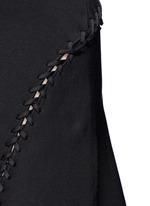 Laced cutout knit dress