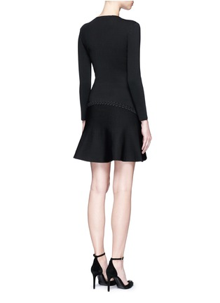 Back View - Click To Enlarge - Alexander Wang  - Laced cutout knit dress