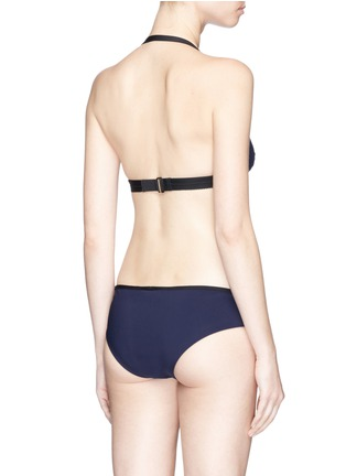 Back View - Click To Enlarge - WARD WHILLAS - 'Addison' reversible halterneck triangle bikini top
