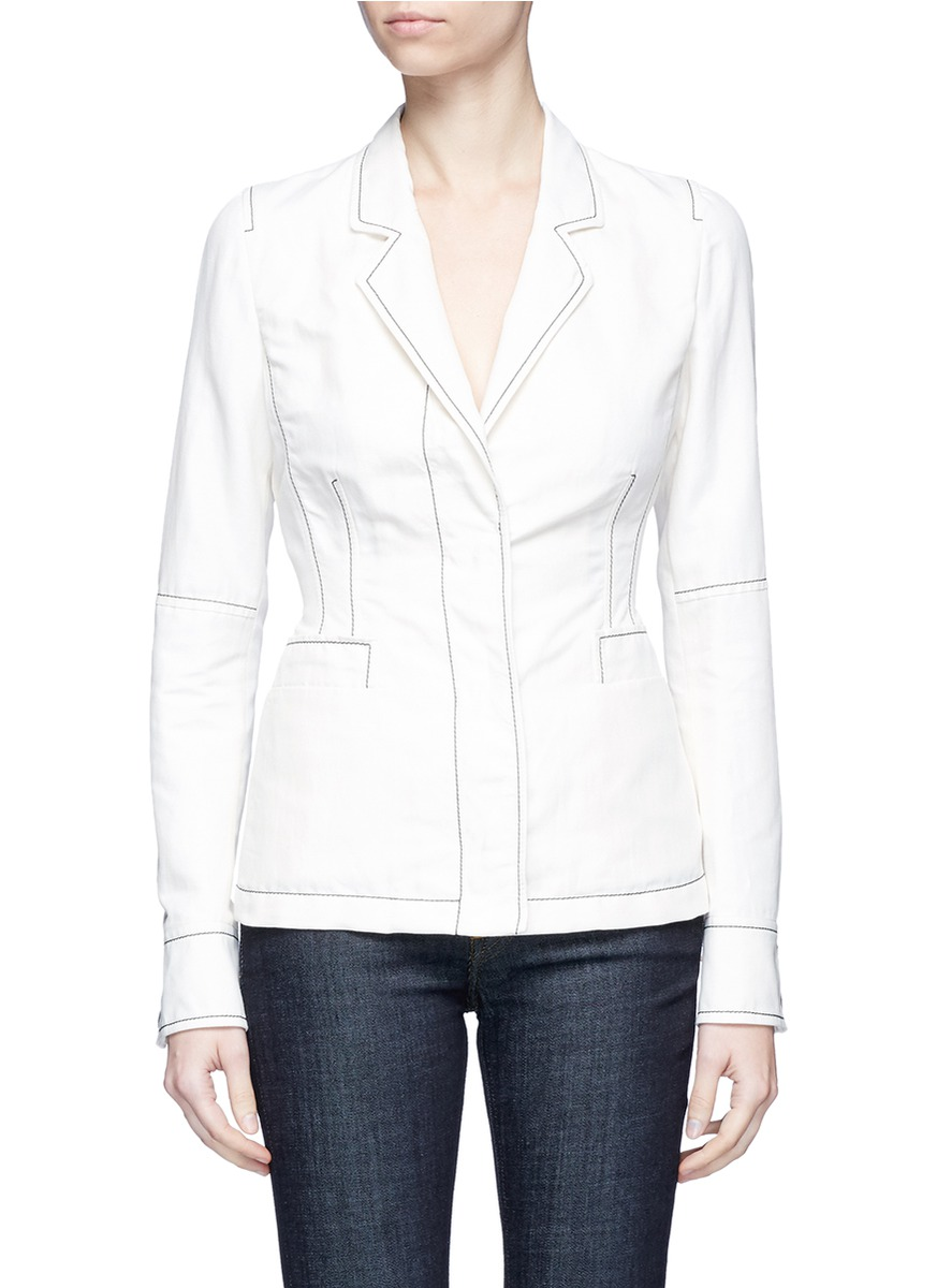 Contrast stitching jacket by Stella McCartney