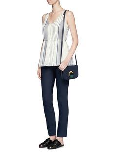 The Row'Insa' stripe tie waist satin sleeveless top