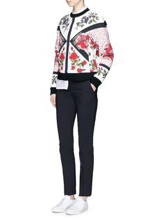 Alexander McQueenFloral tablecloth print neoprene sweatshirt