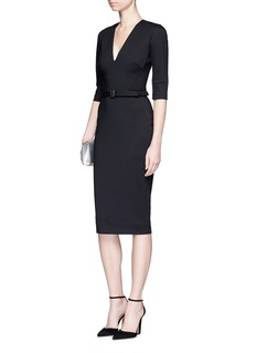 Victoria Beckham Microbrush bonded woven dress
