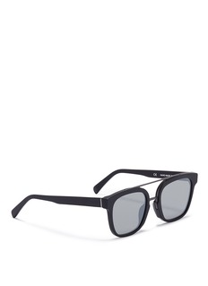 SUPER'Akin' metal bridge matte acetate sunglasses