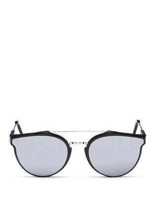 Main View - Click To Enlarge - SUPER - 'Giaguaro' metal bridge mirror sunglasses