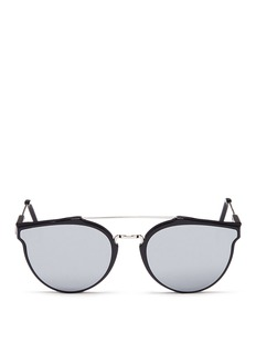 SUPER 'Giaguaro' metal bridge mirror sunglasses