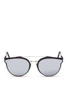 SUPER'Giaguaro' metal bridge mirror sunglasses