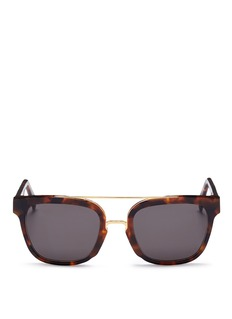 SUPER 'Akin' metal bridge tortoiseshell acetate sunglasses