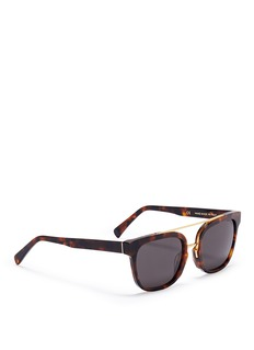 SUPER'Akin' metal bridge tortoiseshell acetate sunglasses