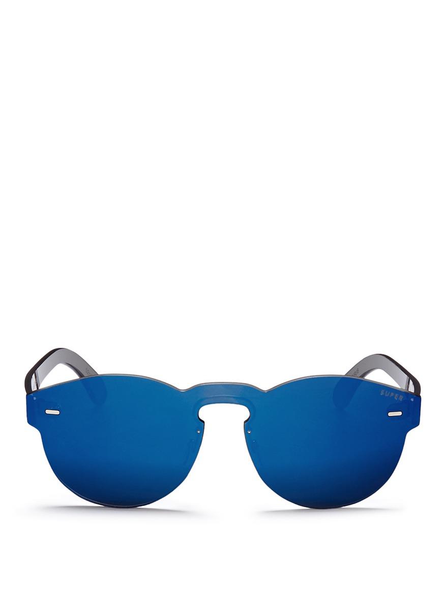 super male tuttolente paloma rimless all lens mirror sunglasses