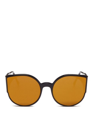 Main View - Click To Enlarge - SUPER - 'Lucia' cat eye mirror sunglasses