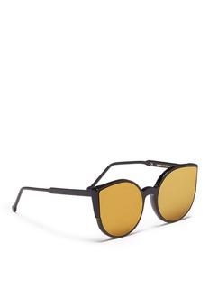 SUPER'Lucia' cat eye mirror sunglasses