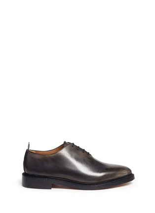 Main View - Click To Enlarge - Thom Browne - 'Phase 2' burnished wholecut leather Oxfords