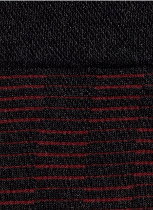 Detail View - Click To Enlarge - FALKE - 'Sensitive' knit check crew socks