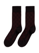 'Sensitive' knit check crew socks
