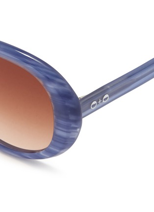 Detail View - Click To Enlarge - Sons+Daughters Eyewear - 'Jackie' kids stripe acetate round sunglasses