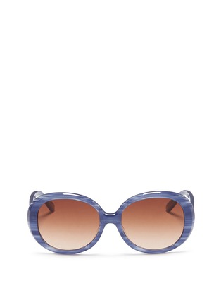 Main View - Click To Enlarge - Sons+Daughters Eyewear - 'Jackie' kids stripe acetate round sunglasses