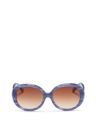 Sons+Daughters Eyewear-'Jackie' kids stripe acetate round sunglasses